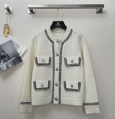 chanel thick cashmere cardigan