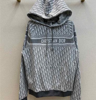 dior letter print hoodie