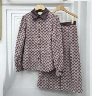 gucci jacket high waist half skirt suit